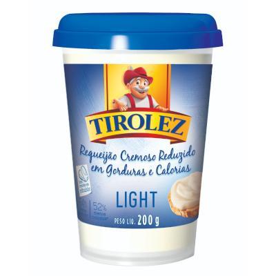 Requeijão cremoso Light 200g Tirolez copo UN