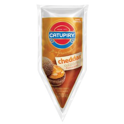 Requeijão cremoso sabor cheddar 1,01kg Catupiry bisnaga BIS