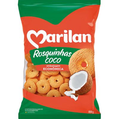 Rosquinha sabor coco 800g Marilan pacote PCT