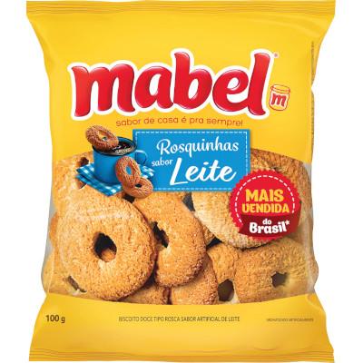 Rosquinha sabor Leite 100g Mabel pacote PCT