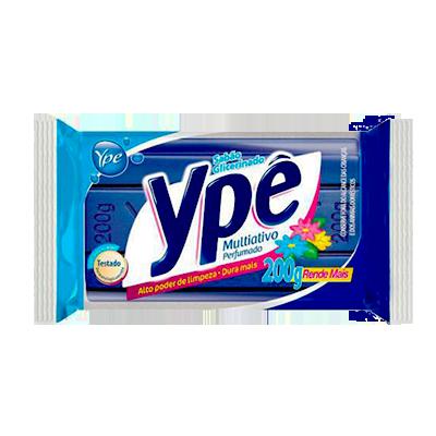 Sabão em barra glicerinado multiativo azul 200g Ypê  UN