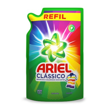 Lava-Roupas Líquido Clássico 1,5Litros Ariel sachê UN
