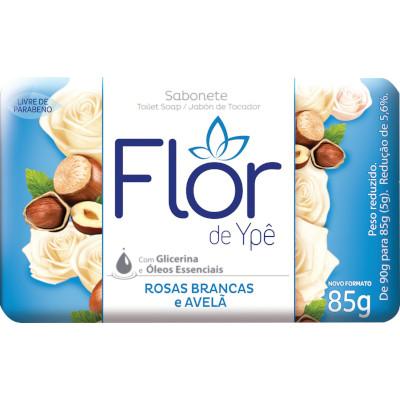 Sabonete em Barra Rosas Brancas e Avelã 85g Flor de Ypê unidade UN