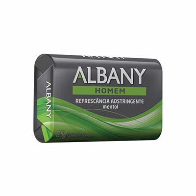 Sabonete em Barra Refrescância Adstringente 85g Albany Homem  UN