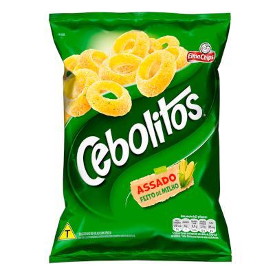 Salgadinho Cebolitos 190g Elma Chips pacote PCT