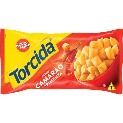 Salgadinho sabor Camarão com Pimenta 45g Torcida pacote PCT