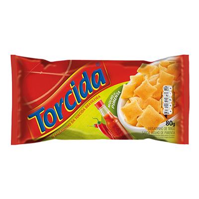 Salgadinho sabor molho de pimenta 80g Torcida pacote UN