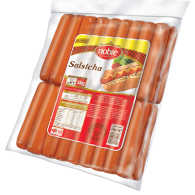 Salsicha Congelada por kg Nobre  KG
