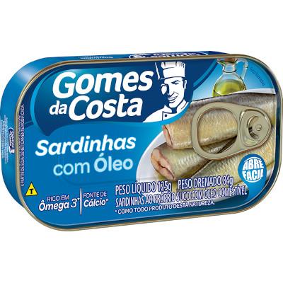Sardinha em óleo comestível 125g Gomes Da Costa lata UN
