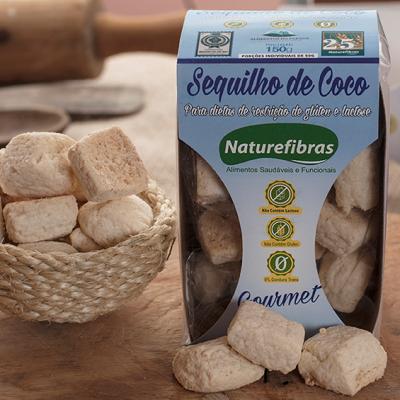 Sequilhos sem glúten e sem lactose com 0% de gordura trans 100g Naturefibras pacote UN
