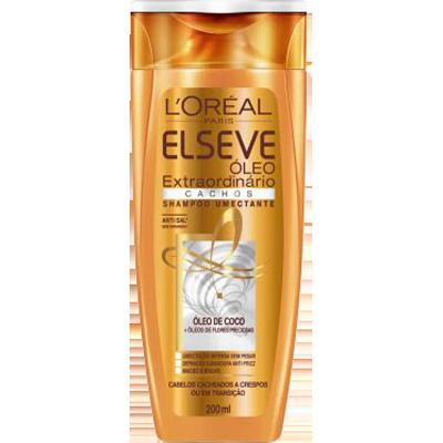 Shampoo Óleo de Coco Cachos 200ml Elseve/Óleo Extraordinário  UN