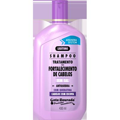 Shampoo Fortalecimento de Cabelos 430ml Gota Dourada  UN