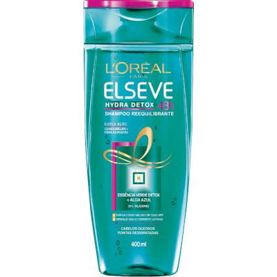Shampoo hydra detox anti oleosidade 400ml Elseve  UN