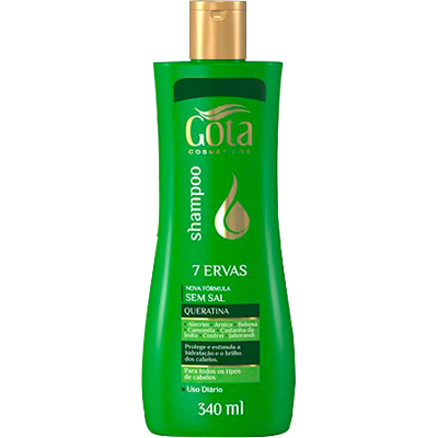 Shampoo sete ervas 340ml Gota Dourada  UN