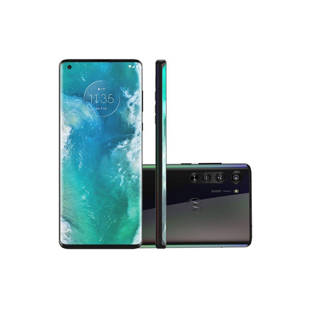 "Smartphone Edge 128GB 5G Tela 6.6"" Câmera Tripla 64MP Selfie 25MP Android 10.0 Preto unidade Motorola  UN"