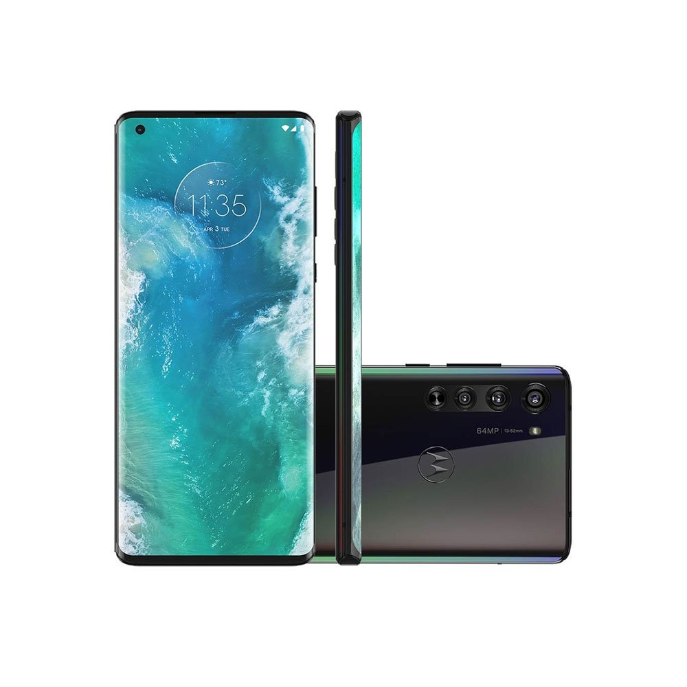 "Smartphone Edge Plus 256GB 5G Tela 6.6"" Câmera Tripla 108MP Selfie 25MP Android 10.0 Cinza unidade Motorola  UN"