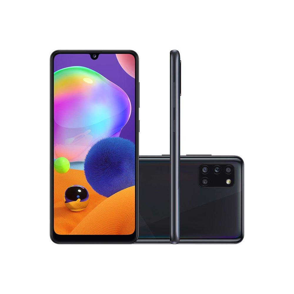 "Smartphone Galaxy A31 128GB Tela 6.4"" Câmera 48MP Selfie 20MP Android 10.0 Preto unidade Samsung  UN"