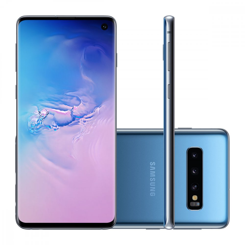 "Smartphone Galaxy S10 Dual Chip 128GB 4G Tela 6.1"" Câmera Tripla 16MP Selfie 10MP Android 9.0 Azul unidade Samsung  UN"