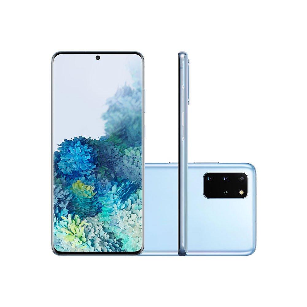 "Smartphone Galaxy S20 Plus 128GB 4G Tela 6.7"" Câmera Quádrupla 64MP Selfie 10MP Android 10.0 Azul unidade Samsung  UN"