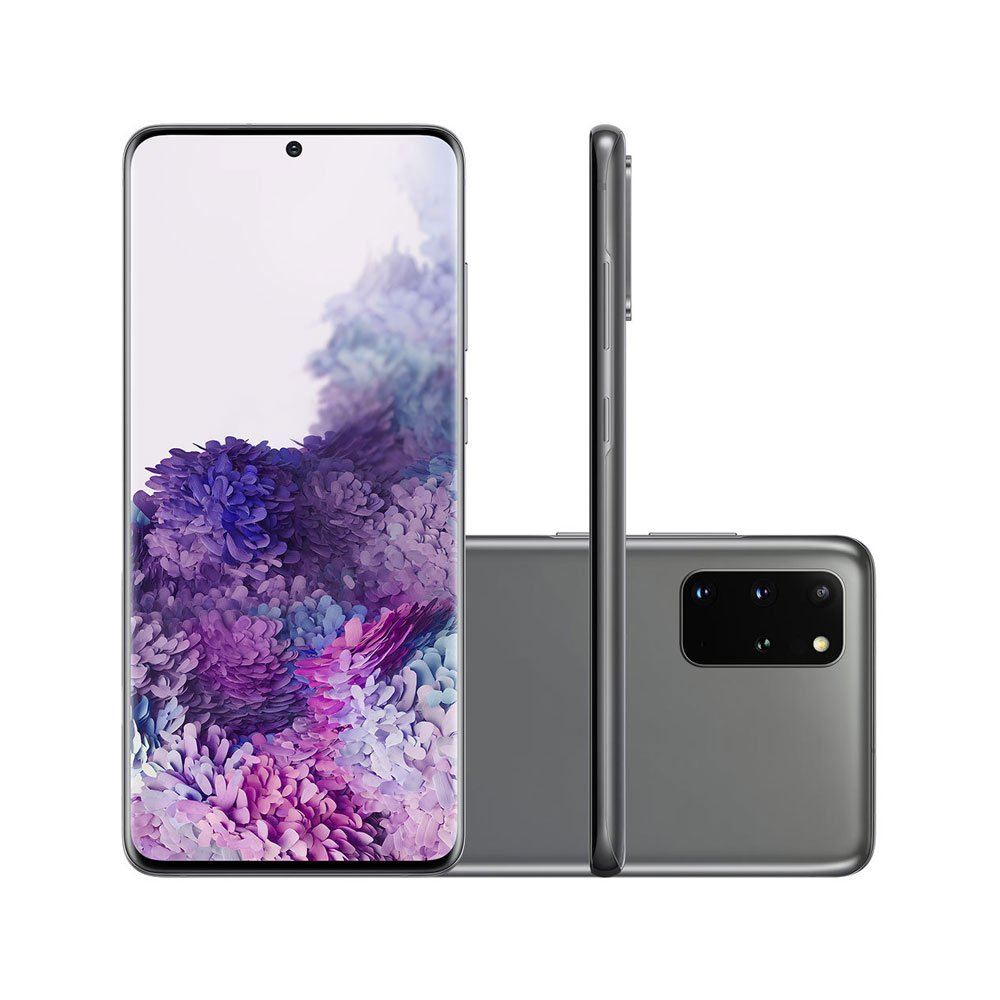 "Smartphone Galaxy S20 Plus 128GB 4G Tela 6.7"" Câmera Quádrupla 64MP Selfie 10MP Android 10.0 Cinza unidade Samsung  UN"