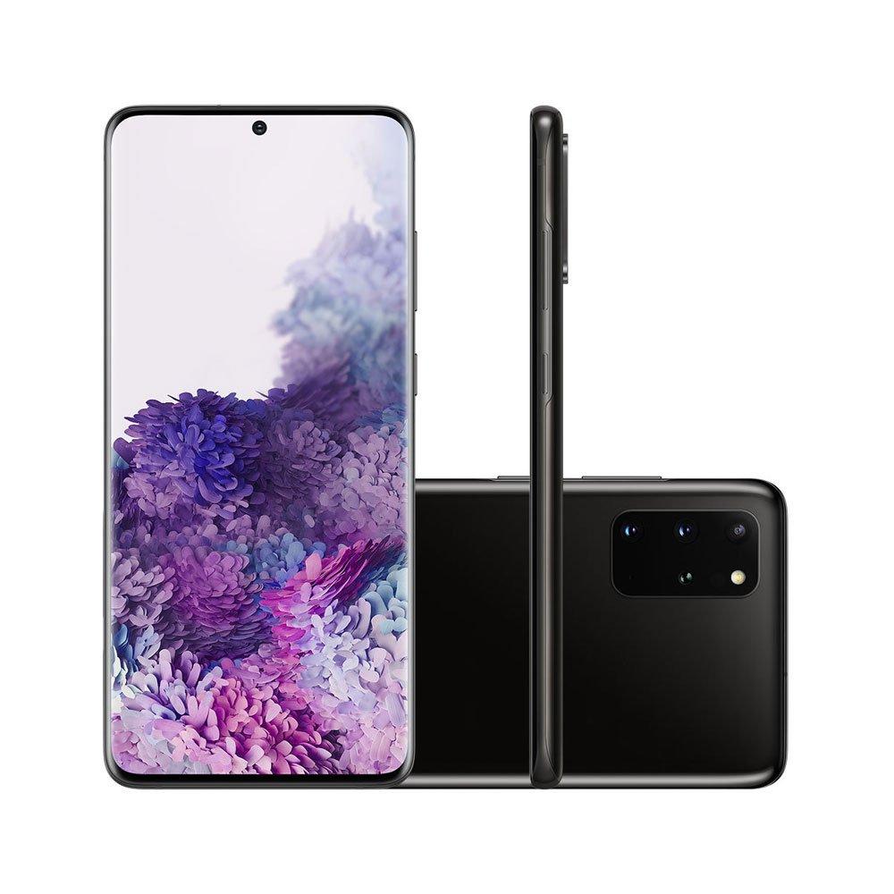 "Smartphone Galaxy S20 Plus 128GB 4G Tela 6.7"" Câmera Quádrupla 64MP Selfie 10MP Android 10.0 Preto unidade Samsung  UN"