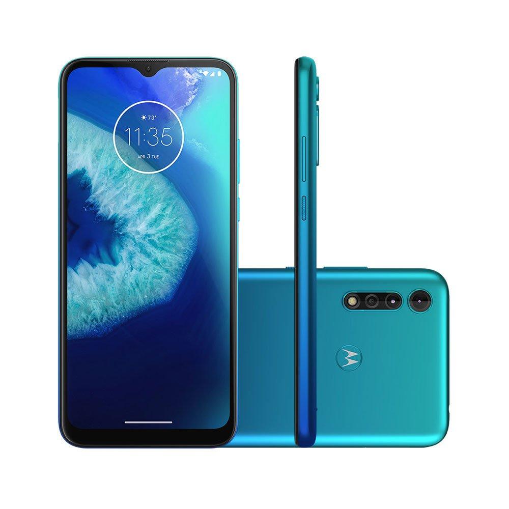 "Smartphone Moto G8 Power Lite 64GB Tela 6.5"" Câmera Tripla 16MP Selfie 8MP Android 9.0 Azul Claro unidade Motorola  UN"