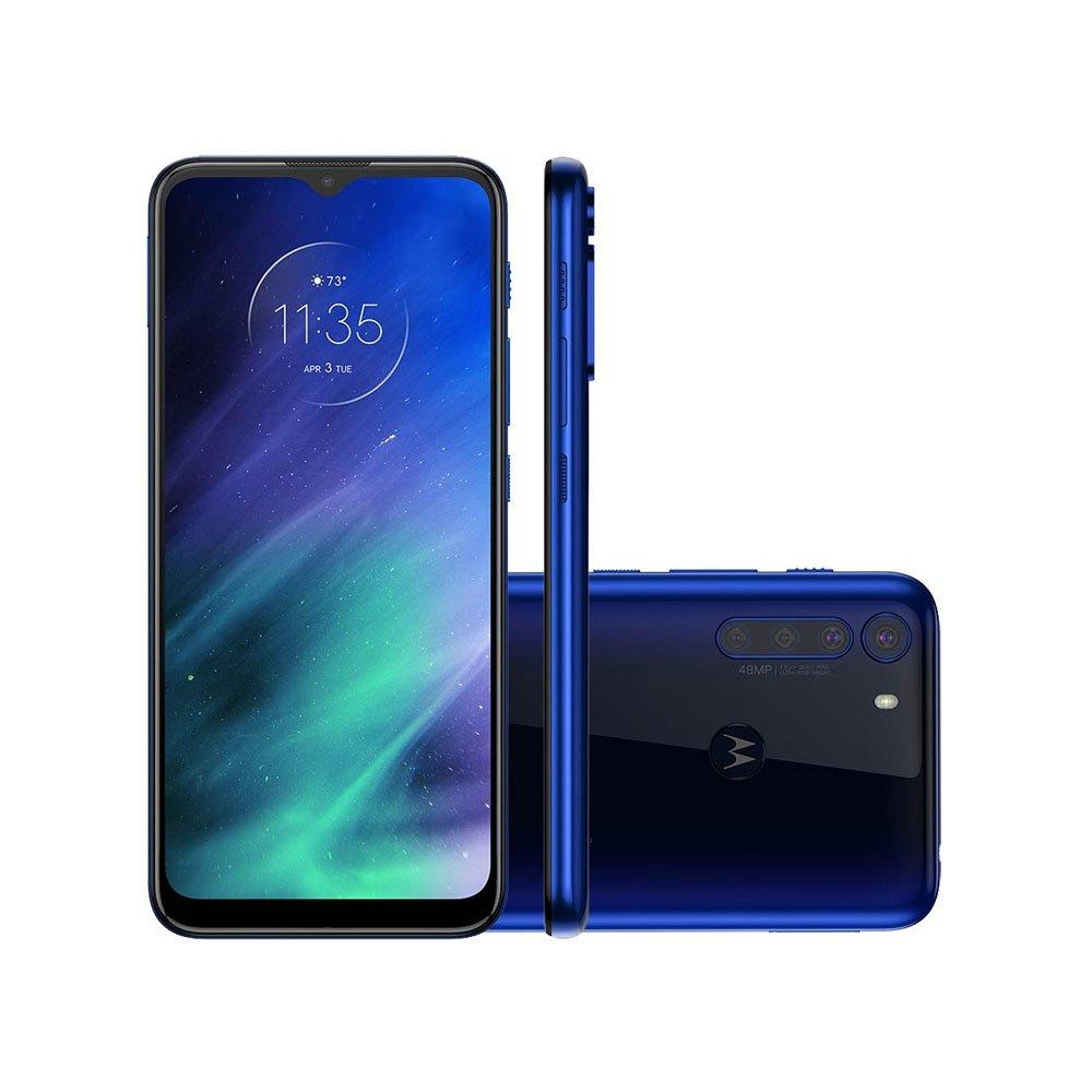 "Smartphone One Fusion 128GB 4G Tela 6.5"" Câmera Quádrupla 48MP Selfie 8MP Android 10.0 Azul Safira unidade Motorola  UN"