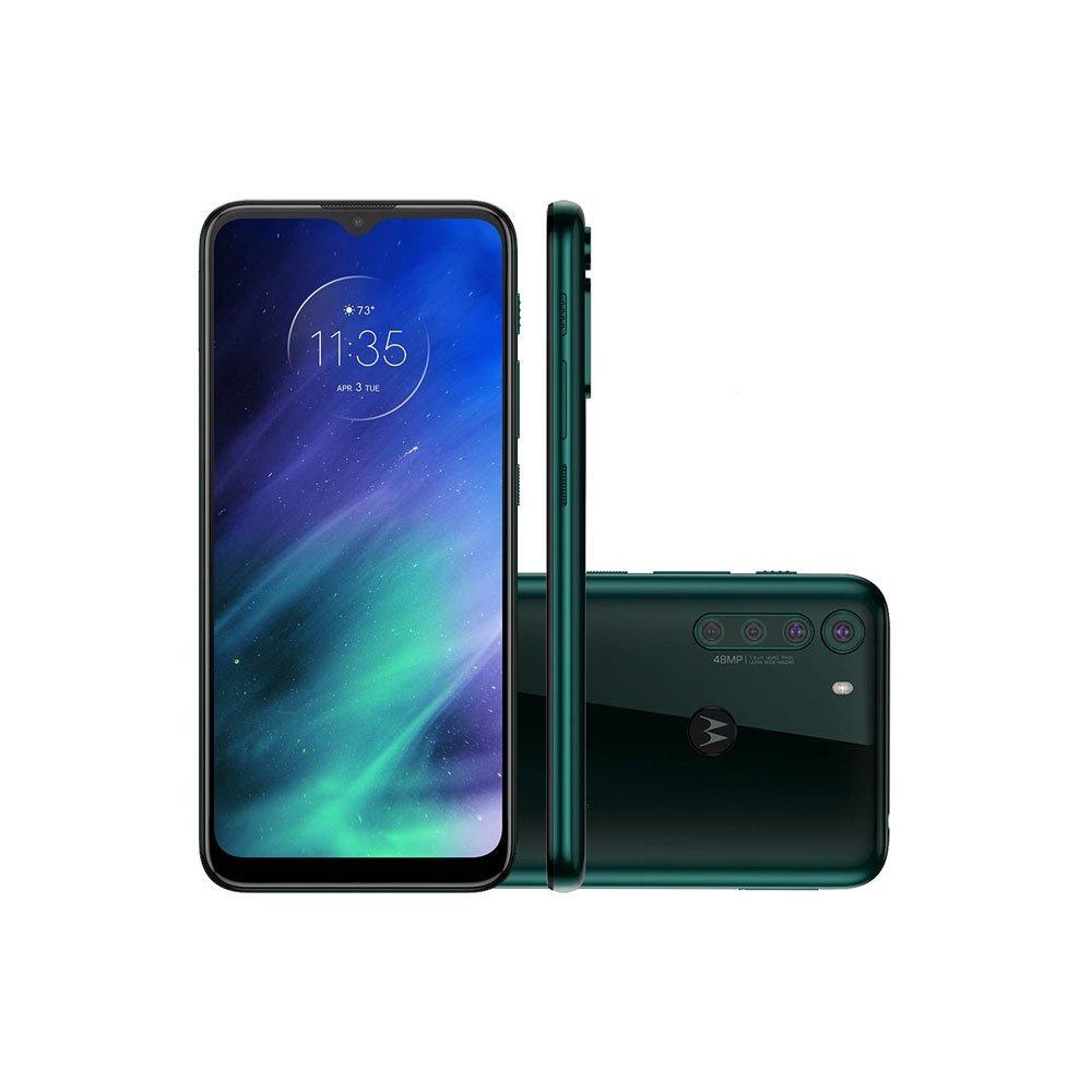 "Smartphone One Fusion 128GB 4G Tela 6.5"" Câmera Quádrupla 48MP Selfie 8MP Android 10.0 Verde unidade Motorola  UN"