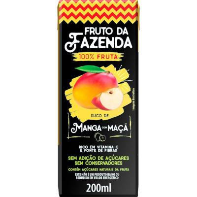Suco de Fruta sabor maçã e manga 200ml Superbom Tetra Pak UN