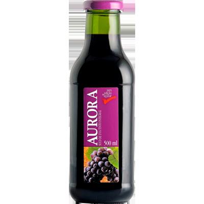 Suco integral sabor uva 500ml Aurora vidro UN