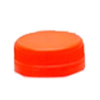 Tampa descartável de plástico laranja para garrafa 100 unidades Maluger pacote UN