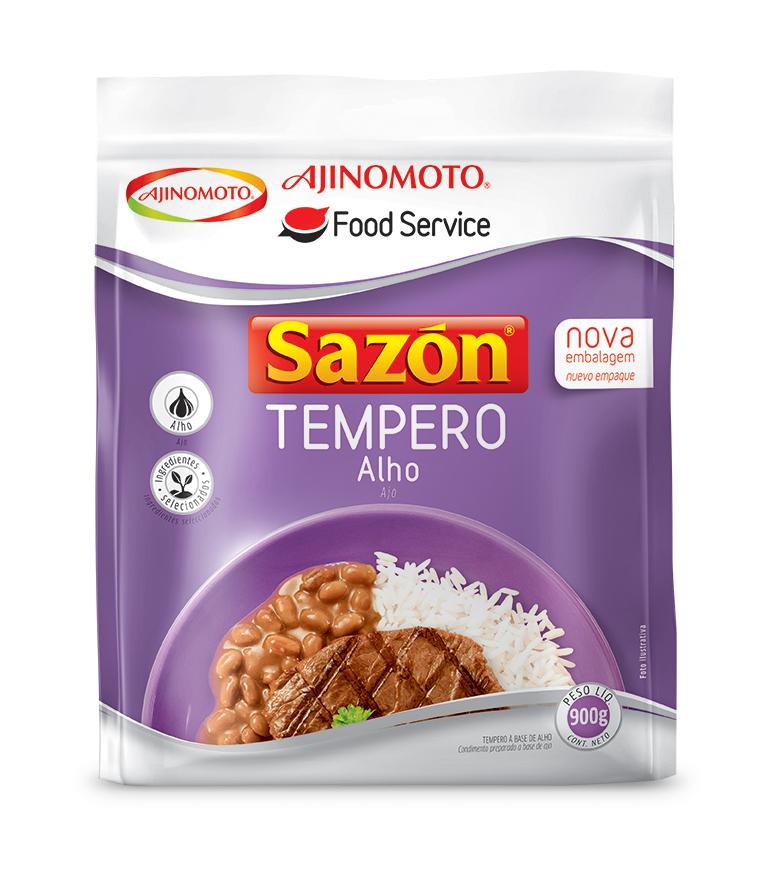 Tempero de alho 900g Sazon pacote PCT