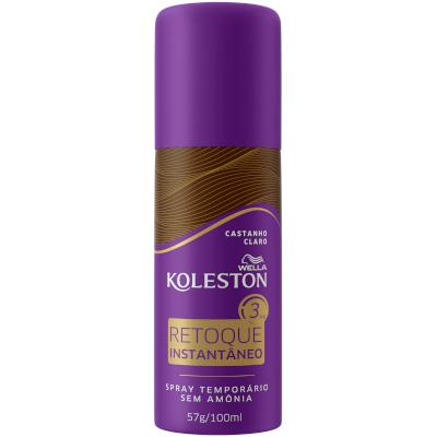 Tintura para Cabelo spray retoque instantâneo castanho claro  100ml Koleston/Wella frasco UN