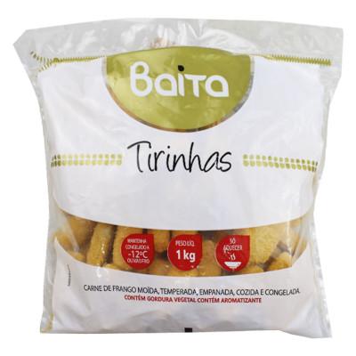 Tirinhas de Frango empanado congelado 1kg Baita pacote PCT