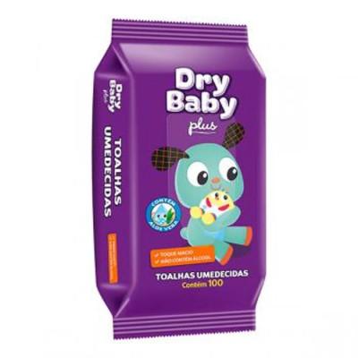 Lenços Umedecidos  100 unidades Dry Baby sachê UN