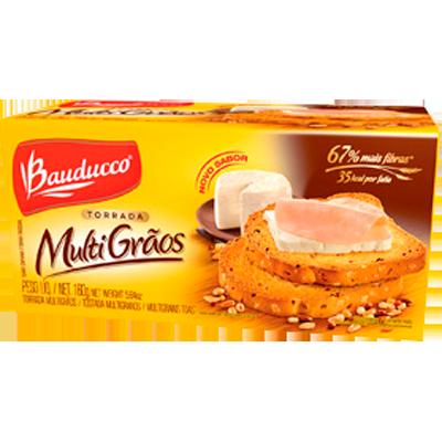 Torrada multigrãos 160g Bauducco pacote UN