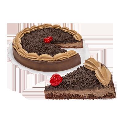 Torta brigadeiro 14 fatias 1,6kg Empório das tortas  UN