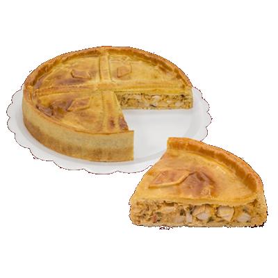 Torta de palmito 10 fatias 1,7kg Empório das tortas  UN