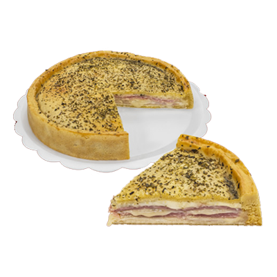 Torta de presunto e queijo 6 fatias 500g Empório das tortas  UN