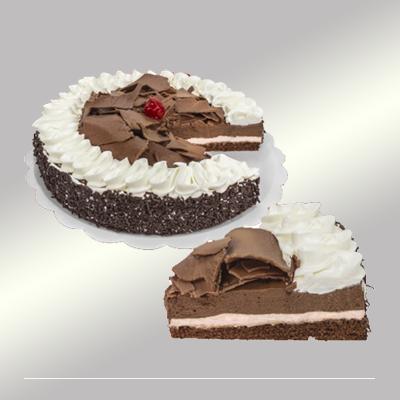 Torta floresta negra 14 fatias 1,5kg Empório das tortas  UN