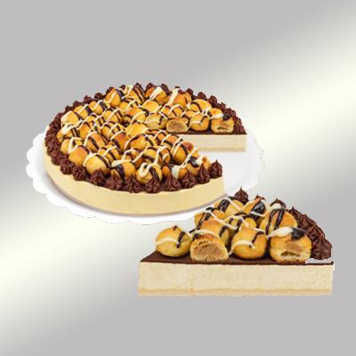 Torta profiterolis 14 fatias 1,5kg Empório das tortas  UN