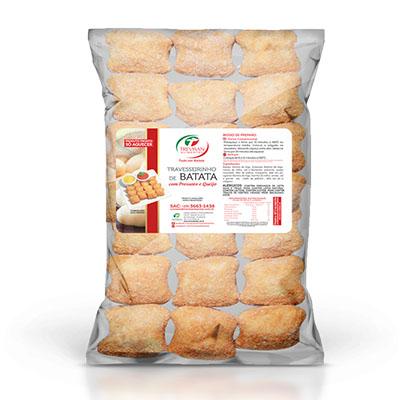 Travesseirinho de Batata com presunto e queijo congelado 25g por kg Trevisan pacote KG