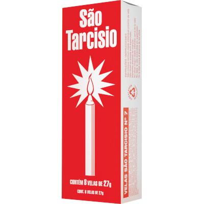 Vela Branca n°8 8 unidades de 36g São Tarcisio  UN