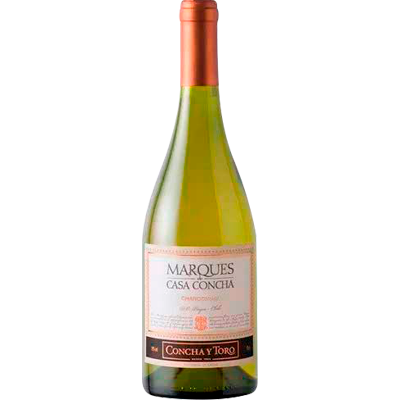 Vinho branco Chileno Chardonnay 750ml Marques de Casa Concha garrafa UN