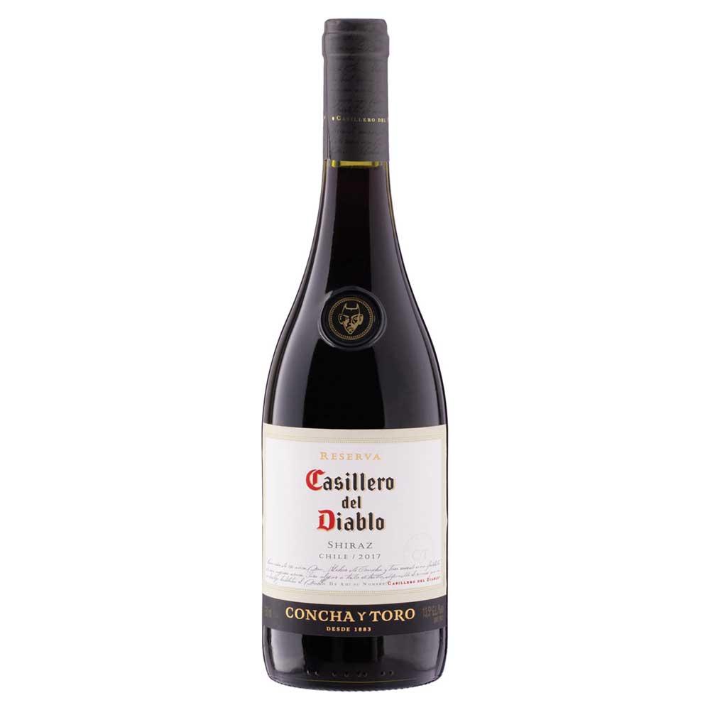 Vinho tinto Chileno Shiraz 750ml Casillero del Diablo garrafa UN