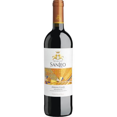 Vinho tinto Italiano Primitivo Salento 750ml SanLeo garrafa UN