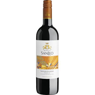 Vinho tinto Italiano Sangiovese Plugia 750ml SanLeo garrafa UN