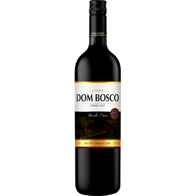 Vinho Tinto Nacional Bordô seco 750ml Dom Bosco garrafa UN