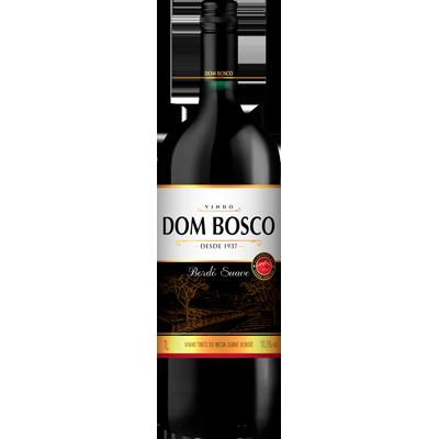 Vinho tinto Nacional Bordô suave 1Litro Dom Bosco garrafa UN