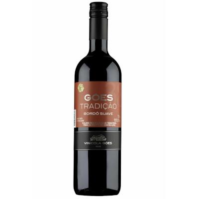 Vinho tinto Nacional suave 750ml Góes garrafa UN
